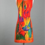 vintage 1960s handpainted dress