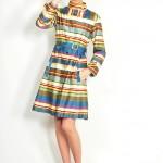 vintage 1960s stripe cotton coat