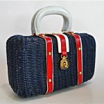vintage 1960s wicker handbag