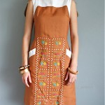 vintage 1960s woven embroidered day dress
