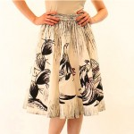 vintage 1970s bonnie strauss rooster skirt