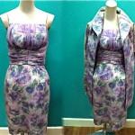 vintage 1950s chiffon dress and coat set