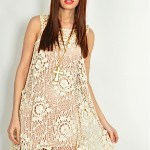 vintage 1970s crochet mini dress