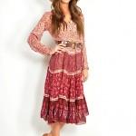 vintage 1970s ethnic gauze dress