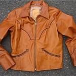 vintage 1970s golden bear leather jacket