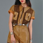 vintage 1970s leather and suede romper