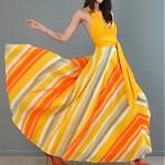 vintage 1970s maxi halter dress