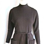 vintage 1970s norman norell wool dress
