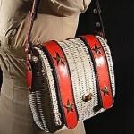 vintage 1970s wicker purse