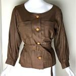 vintage 1970s ysl linen safari jacket