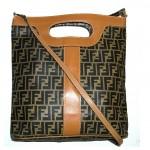 vintage 1980s fendi zucca tote shoulder bag