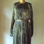 vintage 60s 70 nina ricci paris metallic cocktail dress