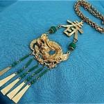 vintage art asian necklace