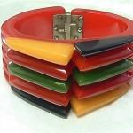 vintage bakelite clamper hinge bracelet