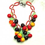 vintage bakelite fruit necklace