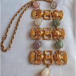 vintage castlecliff semi precous stone necklace