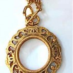 vintage chanel magnifying loupe necklace
