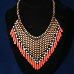vintage czech handblown glass necklace