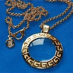 vintage givenchy magnifying loupe pendant necklace