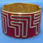 vintage lanvin enamel bracelet