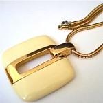 vintage lanvin lucite pendant neckalce