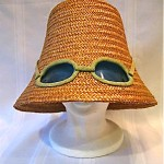 vintage lanz italy straw sunglass hat