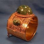 vintage larry vrba for miriam haskell cuff bracelet