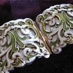 vintage margot de taxco mexican sterling silver and enamel bracelet