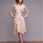 vintage midcentury scalloped lace dress
