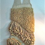 vintage midcentury woven wall hanging textile art