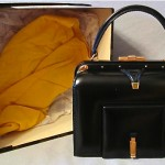 vintage mint lederer handbag with dustbag and box