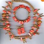 vintage miriam haskell coral parure