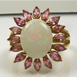 vintage oval and tourmaline ring