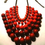 vintage plastic and brass necklace