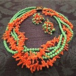 vintage sandor necklace and earrings