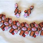 vintage schiaparelli bracelet and earrings