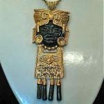 vintage teran mask necklace