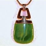 vintage trifari lucite pendant necklace