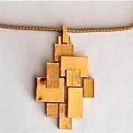vintage trifari midcentury abstract necklace