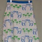 vintage vested gentress kissing camels skirt