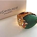 vintage ysl jade cocktail ring