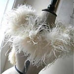 vintage 1920s ostrich feather boa