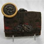 antique asian brass dragon handbag