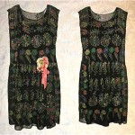 vintage 1920s embroidered silk chiffon flapper dress