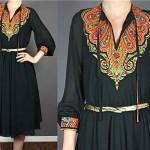 vintage 1960s boho dress