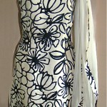 vintage 1960s christian dior silk dress with matching scarf