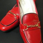 vintage 1960s deadstock patent leather loafers