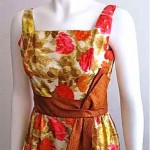 vintage 1960s sculptural bow cocktail dress