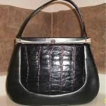 vintage 1960s structured leather handbag