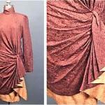 vintage 1980 paul-louis orrier silk wool dress